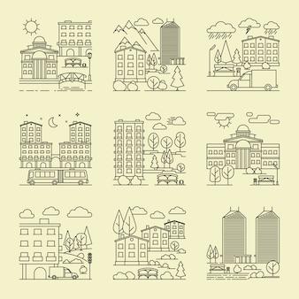 Paysages urbains de style linéaire
