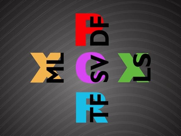 Pdf vecteur de format de fichier coloré