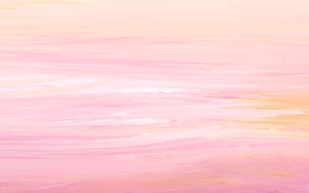 Peach abstrait pinceau acrylique texture fond