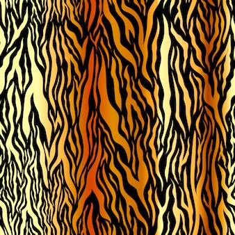 Peau de tigre brillante de luxe, rayures dorées sur fond noir