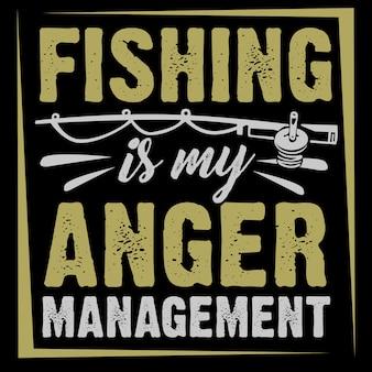 La pêche est ma gestion de la colère