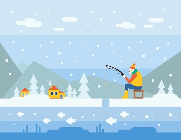 Pêche d'hiver.