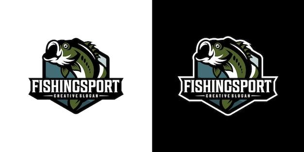 Pêche logo sport créatif moderne