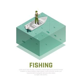 Pêche seule isométrique