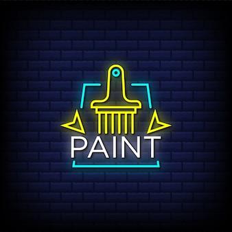 Peindre le texte de style enseignes au néon