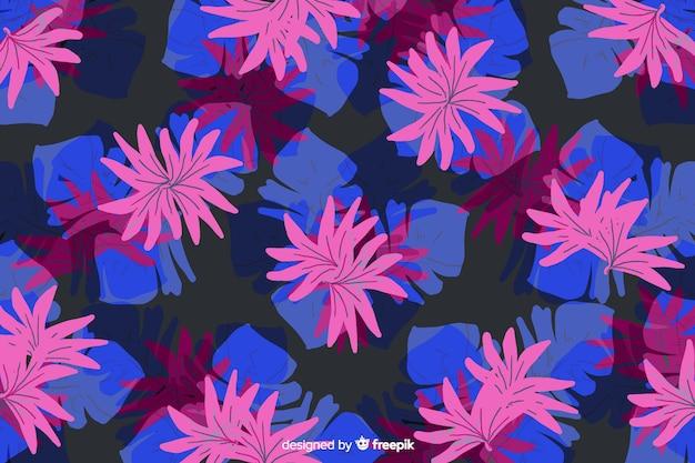Peint à la main abstrait floral