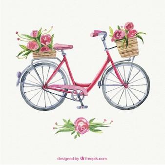 Peint à la main belle vélo