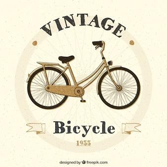 Peint à la main bicyclette vintage