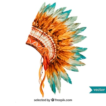 Peint à la main coiffe indienne