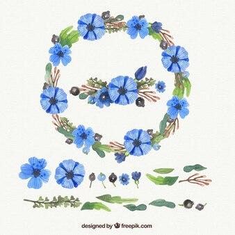 Peint à la main la décoration florale personnalisable
