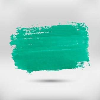 Peint à la main tache verte
