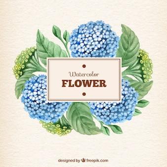 Peinte à la main de fleurs à l'aquarelle