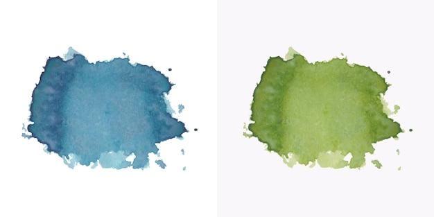 Peintre à La Main Couleurs Aquarelle Tache Texture Vecteur Premium