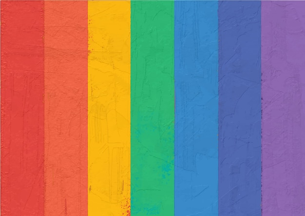 Peinture abstraite arc-en-ciel coloré à rayures.