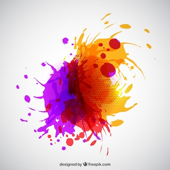 Peinture abstraite splash