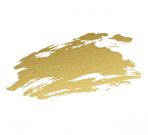 Peinture acrylique dorée