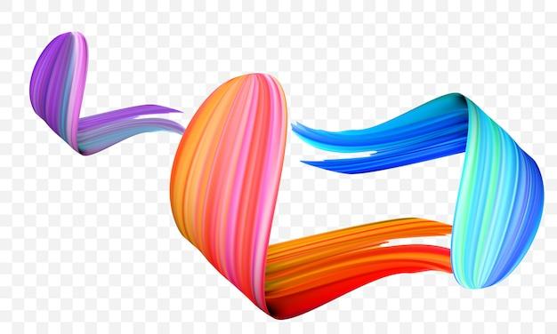 Peinture acrylique pinceau coups abstraits de couleur