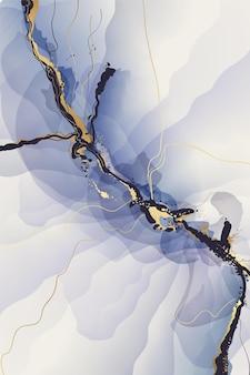 Peinture aquarelle avec fond abstrait or