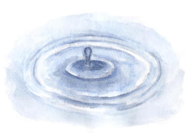 Peinture à l'aquarelle de la surface de l'eau