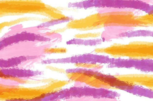 Peinture artistique aux lignes colorées