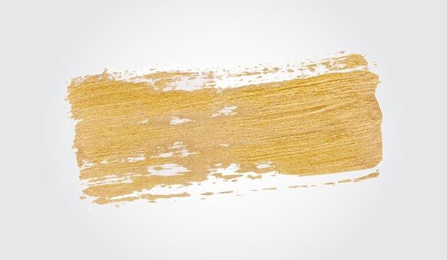Peinture de coup de pinceau doré à la main