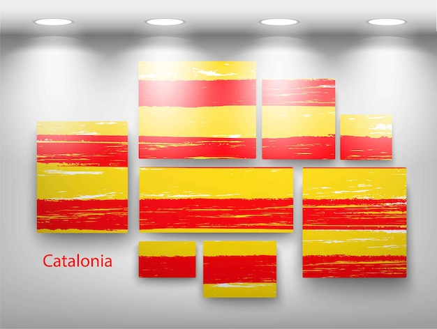 Peinture de drapeau dans la galerie. illustration vectorielle