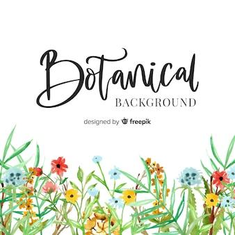 Peinture fond botanique