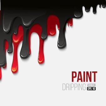 Peinture fond dégoulinant coloré