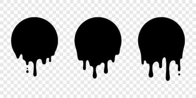 Peinture goutte à goutte autocollant cercle étiquette liquide goutte