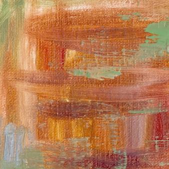 Peinture à l'huile abstraite sur toile. fond de vecteur texturé. peinture à l'huile dessinée à la main. fond de vecteur d'art abstrait. fragment d'oeuvre d'art. art moderne. toile texturée colorée.