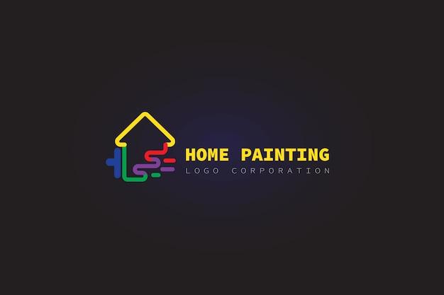 Peinture Logo Maison Vecteur Premium