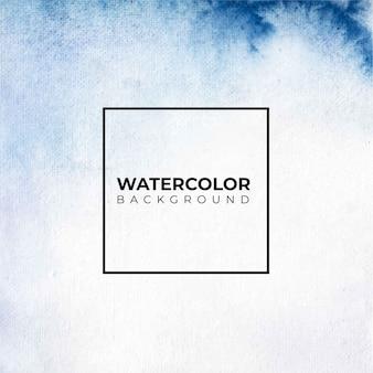 Peinture à la main aquarelle abstraite de couleur bleue.