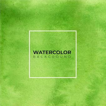 Peinture à la main aquarelle abstraite verte. éclaboussures de couleur sur le papier blanc