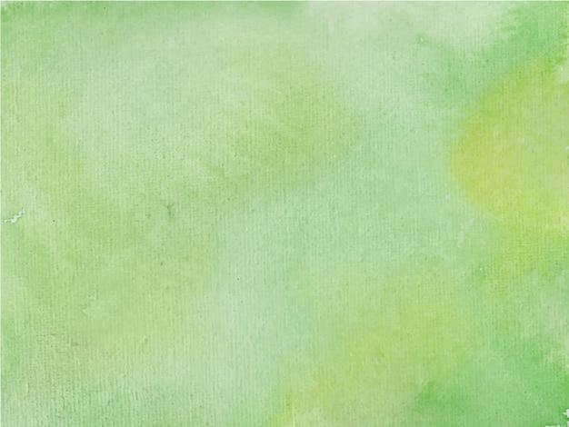 Peinture à la main aquarelle abstraite verte.