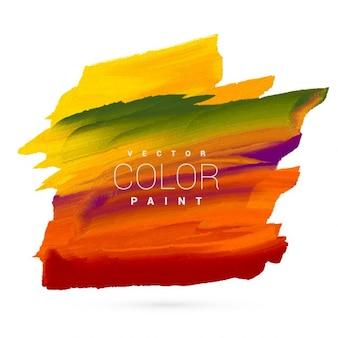 Peinture à la main dessin vectoriel tache lumineuse et colorée