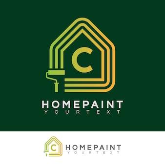 Peinture à la maison initiale lettre c logo design