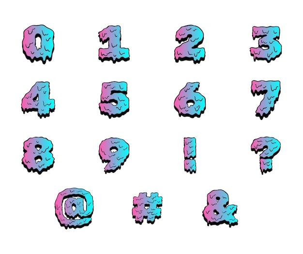 Peinture mouillée chiffres colorés