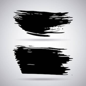 Peinture noire artistique fait à la main des coups de pinceau d'encre créative