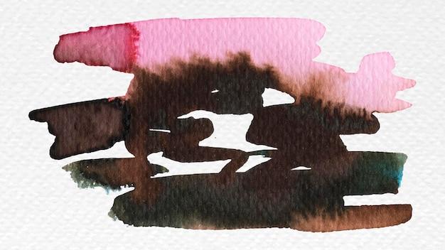 Peinture pinceau aquarelle mixte