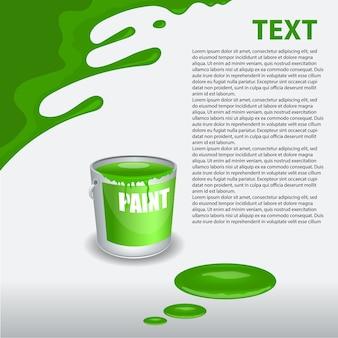 Peinture verte dégoulinant sur le mur