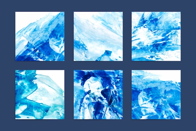 Peintures indigo abstraites