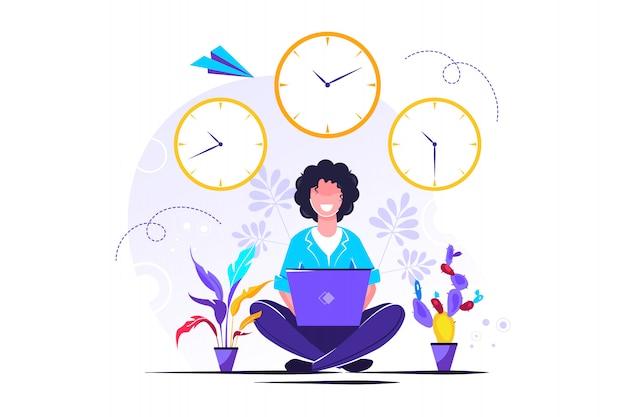 Pendant les heures de travail, pause, avantages pour la santé