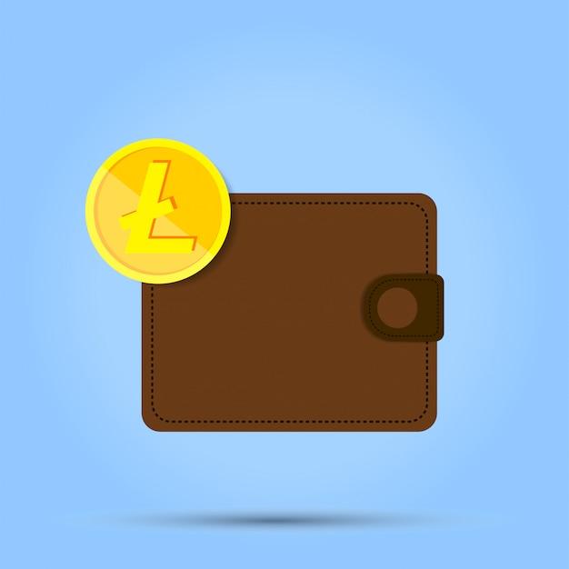 Un penny de monnaie est situé au bord de la bourse sur le bleu