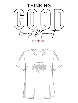 Penser une bonne typographie pour un t-shirt imprimé