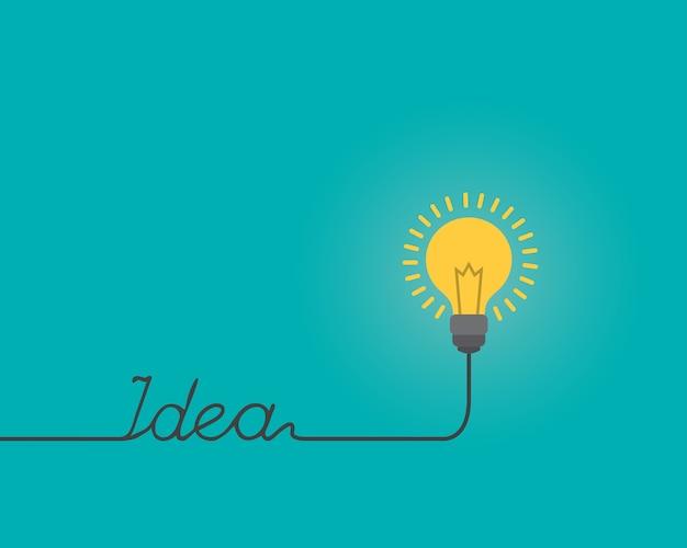 Penser la forme d'ampoule idée pour le texte