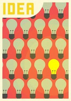Pensez concept idée vision réussie avec l'icône de l'ampoule.