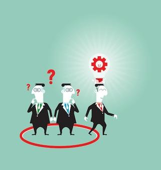 Pensez hors des sentiers battus - concept d'entreprise