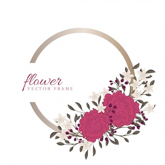 Pension de fleur pourpre - cadre floral