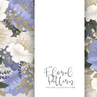 Pension de fleur de printemps - fleur bleu clair