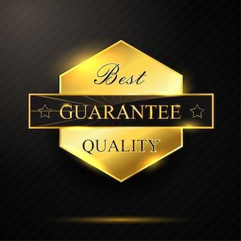 Pentagone golden meilleure qualité badge